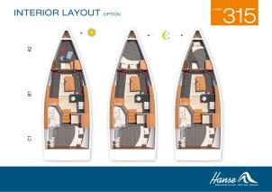 Hanse 345 Layout